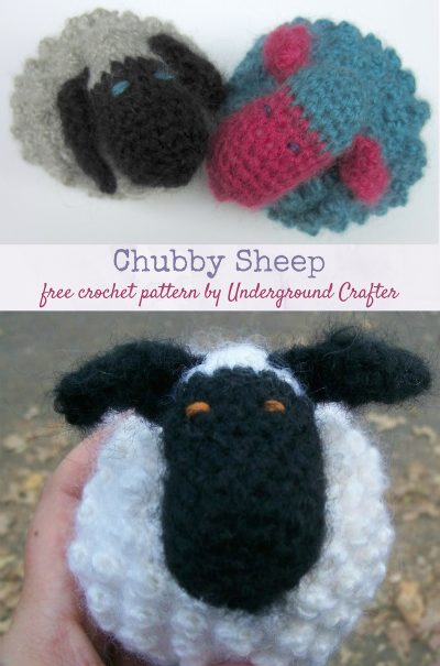 Free crochet pattern: Chubby Sheep amigurumi by Underground Crafter
