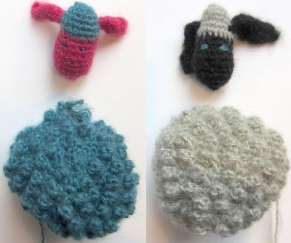 Free crochet pattern: Chubby Sheep amigurumi by Underground Crafter - head and body assembly collage