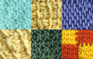 A selection of stitches included in 30 Purrfect Stitches for Pet Blankets.