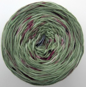 Miss Babs Yowza--Whatta Skein in Violets in the Grass. I have about 470 yards remaining.