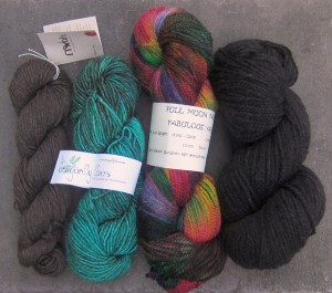 My yarn haul from Vogue Knitting Live.