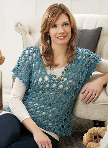 Crochet Lace Pullover, published by and image (c) Willow Yarns.