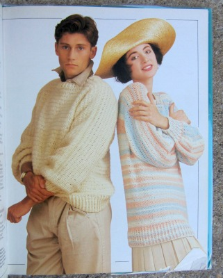 Two versions of the Basic Sweater, made with sport weight yarn.