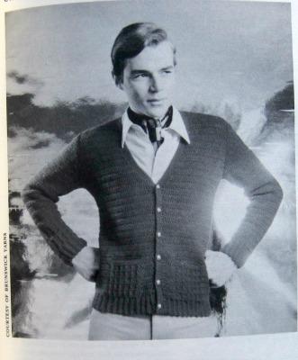 Crocheting for Pleasure man cardigan