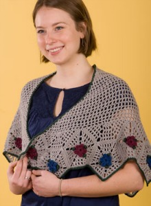 Damask Crochet Shawl, published through the KnitPicks IDP.