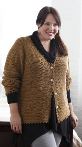The Essential Cardigan from Curvy Girl Crochet.  Image (c) Susan Pittard.