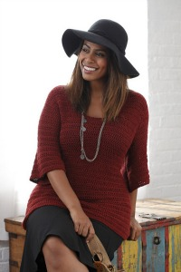 The Essential Pullover from Curvy Girl Crochet.  Image (c) Susan Pittard.