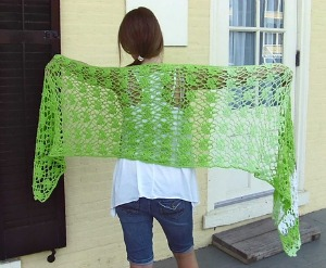 Fleuron Shawl, published by Hooked for Life.