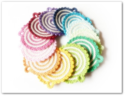 Barbara still makes coasters.  Click the photo to link to her beautiful Spiral Coaster/Potholder Pattern.