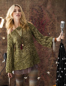 Tunisian Lace Tunic, published in Vogue Knitting's 2012 crochet special issue.  Image (c) Vogue Knitting.