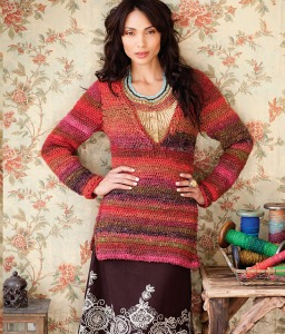 V-neck Pullover from Crochet Noro.  Picture (c) Sixth & Spring.