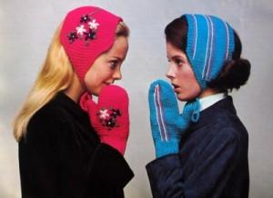 Minerva mittens and headbands