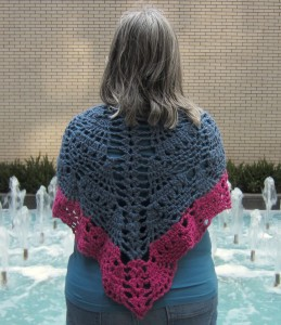 Pineapples for Everyone Shawl, free crochet pattern by Underground Crafter