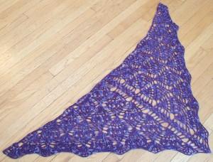 vibeskat purple pineapples shawl