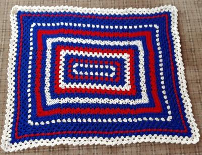 Rectangular Sampler Blanket Marie W in MI