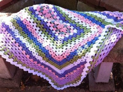 Rectangular Sampler Blanket yarnpumpkin
