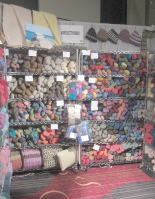 The Bartlettyarns booth at Vogue Knitting Live NYC.
