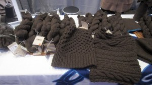 mYak yarns in several weights along with sample knits from Vogue Knitting Live.