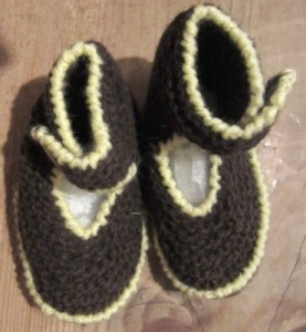 Booties knit with mYak and another yarn.