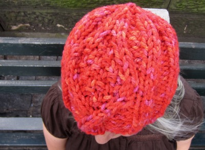 Diamond Eye Beanie on Marie close up front1