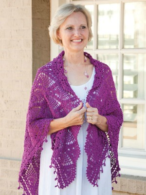 Alborada Shawl, published by Annie's in Exquisite Crochet Shawls.