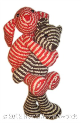 Bonnie the Striped Bunny by HandMadeAwards.