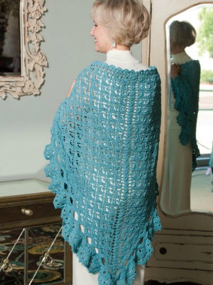 Galician Sea Shawl, published by Annie's in Exquisite Crochet Shawls.