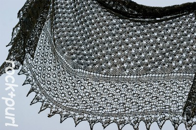 Libelula Shawl, currently an exclusive pattern for Pret-A-Tricoter Brit Knit Kit.