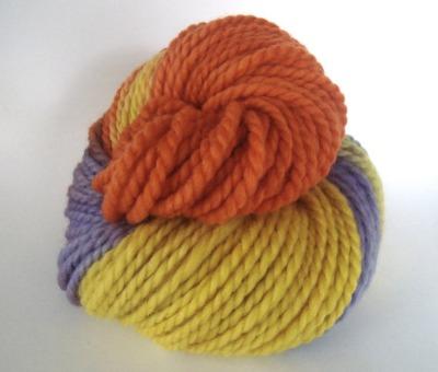 A 2-ply bulky Merino yarn.