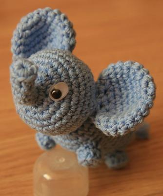 Elephant amigurumi.