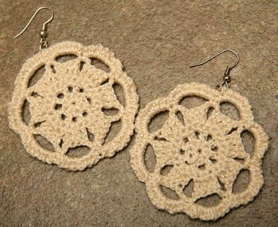 Rosette earrings.