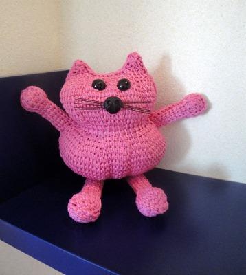Tunisian Cat Amigurumi.