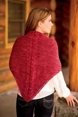 Easy Cranberry Shawl.  Photo © J.C. Leacock Photography/Love of Knitting.