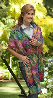 Sheryl's Motivated Heretic entrelac shawl pattern.