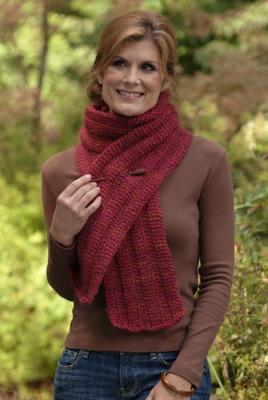 Sheryl's Rogue Ribs unisex scarf pattern.