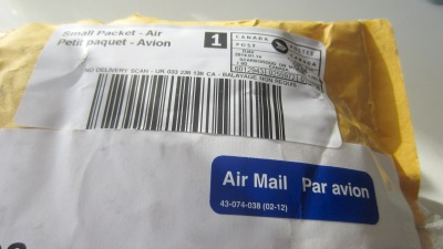 Air mail from Canada