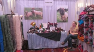 The Full Moon Farm booth at Vogue Knitting Live in 2013.