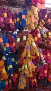 Full Moon Farm booth at Vogue Knitting Live (New York) 2014.