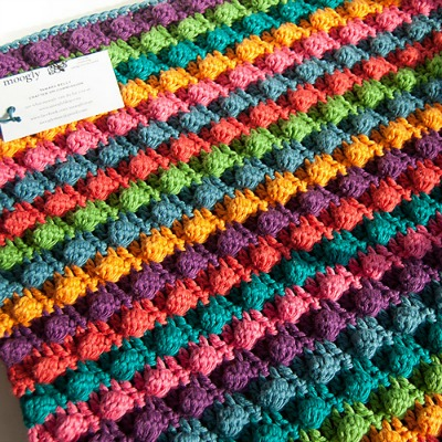 Blackberry Salad Striped Baby Blanket
