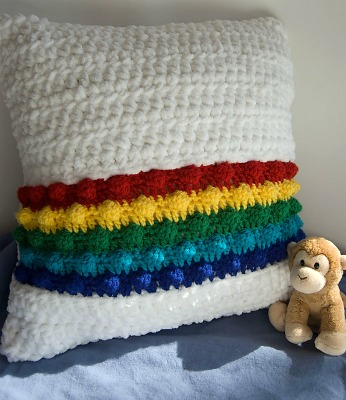 Rainbow in the Clouds Pillow
