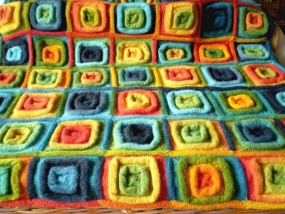 Squares on a Roll Blanket by Frankie Brown