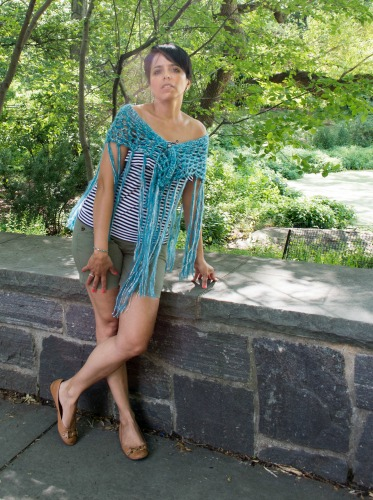 A Little Bit of Bling Shawl, free crochet pattern by Underground Crafter