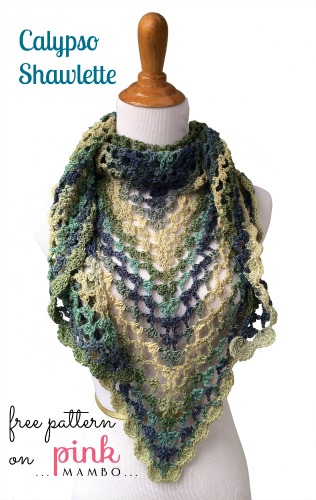 Calypso Shawlette by Carolyn Christmas, interviewed by Underground Crafter