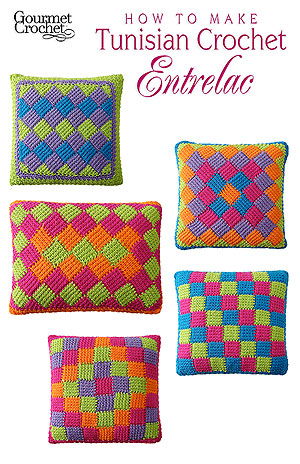 Tunisian Crochet Entrelac by Carolyn Christmas, interviewed by Underground Crafter