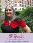 El Guaba, free wrap pattern by Underground Crafter with U.S. pattern abbreviations