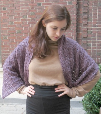 Quadrilateral, a broomstick lace shawl, free crochet pattern and tutorial on Underground Crafter blog