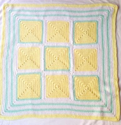Crochet receiving blanket.