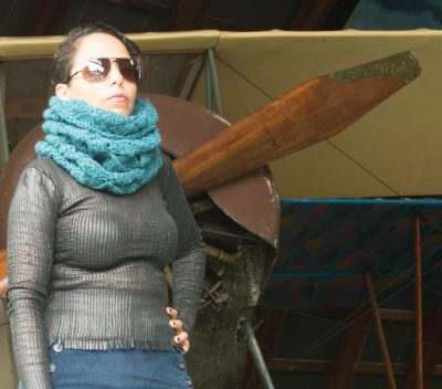 Flying Geese Hooded Cowl, #crochet pattern by @ucrafter for sale on Craftsy, Etsy, Ravelry