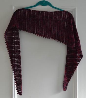 Thaden's Asymmentrical Shawl crochet pattern by Marie Segares/Underground Crafter