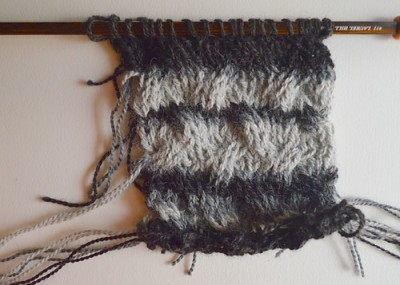 Temperature scarf for mom, knitting project on Underground Crafter.